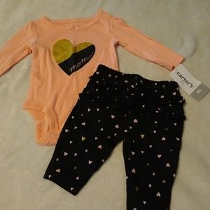 NWT Carter's 2 PC newborn outfit